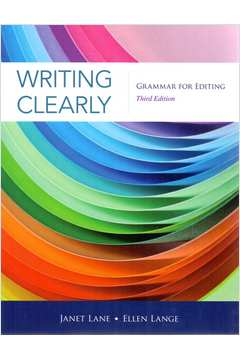 livro writing clearly grammar for editing janet lane estante