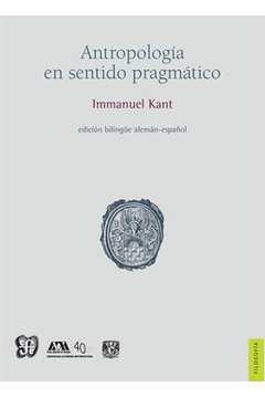 Antropología en sentido pragmático - bilingue