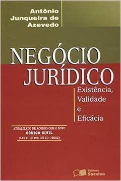 Negócio Jurídico. Existência, Validade e Eficácia