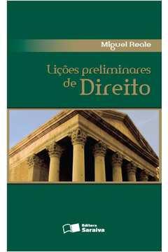 Lições Preliminares de Direito (27° Edição 2002)