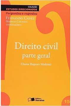 Direito Civil: Parte Geral - Colecão Estudos Direcionados - Vol.15