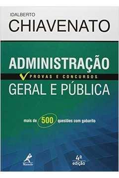 Administracao Geral e Publica - Serie Provas e Concursos