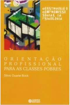 ORIENTACAO PROFISSIONAL PARA AS CLASSES POBRES