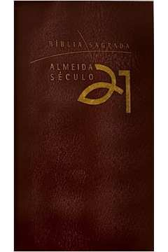 Biblia Almeida Seculo 21 Luxo Capa Vinho