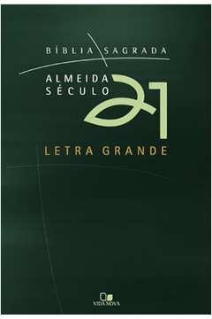 Biblia Sagrada Almeida Seculo 21 Brochura Verde Letra Grande