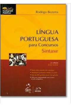 Língua Portuguesa para Concursos - Sintaxe