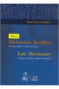 Mini Dicionário Jurídico: Português-inglês / Inglês-português
