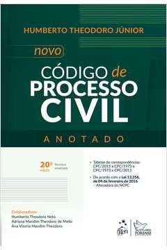 Novo Codigo De Processo Civil - Anotado - 20Ed/16