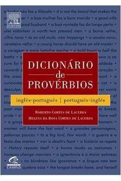 DICIONARIO DE PROVERBIOS - INGLES / PORTUGUES - PORTUGUES / INGLES