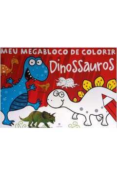Mega Bloco de Colorir Dinossauro
