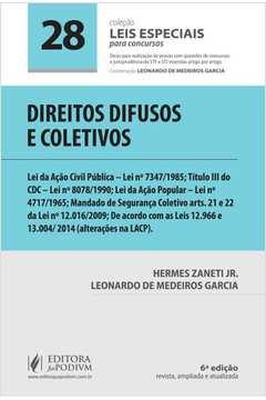 60a07f03b3b Livro  Direito Difusos e Coletivos - Hermes Zaneti Jr