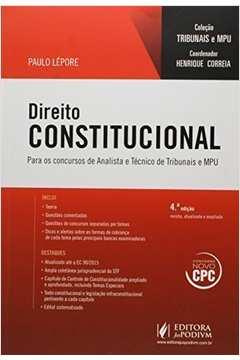 Direito Constitucional: Para Técnico e Analista - Colecão Tribunais e Mpu