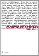 Escritos de Artistas Anos 60 / 70
