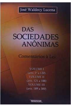 Das Sociedades Anônimas - 3 Volumes