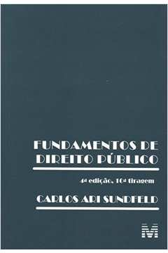 Fundamentos de Direito Público 4ª Edição