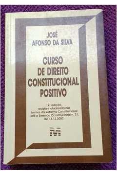 Curso de Direito Constitucional Positivo 19ª