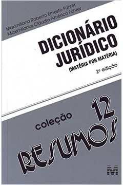 Dicionário Jurídico Matéria por Matéria