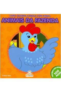 LIVRO QUEBRA CABECA COM RIMAS ANIMAIS DA FAZENDA