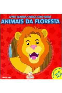 Livro Quebra Cabeca Com Rimas Animais da Floresta