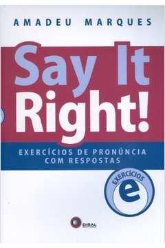 Say It Right! Exercícios de Pronuncia
